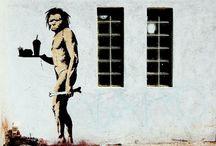 BANKSY - Stêncil / A obra esperta do artista de rua londrino.