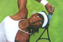 "Venus Williams ""Detalle"" / Detalles a la Pintura Original. Ver tablero tennis"