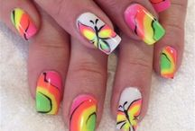 Neon Nail Art / by NAILS Magazine