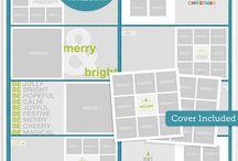 Document December scrapbooking supplies / Digital supplies to document December, albums, accents, etc.