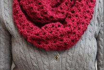 Infinity scarves and hats