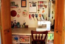 sewing space / by Geeky Sweetheart