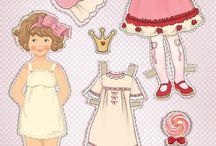 öltöztethető papír babák