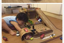 DIY toy garage