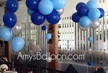 Balloon Cluster / Balloon Centerpieces use 12 latex balloons, colors of your choice.