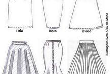 molde saia e vestidos