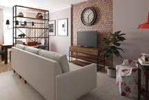 Salon/Living room interior design