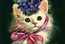kitten Cat Cards Vintage