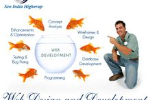Web Design and Development / SEO India Higherup - A web design firm providing site development, hosting, interactive media, and Internet marketing plans. Includes company background, description of services.