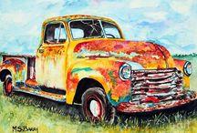 Old Cars Art
