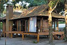 casa de madeira linda