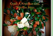 Create a DIY Holiday Wreath / Creating a DIY Holiday Wreath in less than one hour