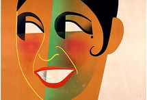 """Graphic Design: The Forties & Fifties & Social Themes / About graphic design: """"That's something I learned in art school. I studied graphic design in Germany, and my professor emphasized the responsibility that designers and illustrators have towards the people they create things for."""" Eric Carle ------    About sociology: """"My students often ask me, 'What is sociology?' And I tell them, 'It's the study of the way in which human beings are shaped by things that they don't see."""" Sam Richards"""