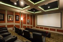 Home Cinema | Orlando / Vacation rentals with private home cinemas. From unique designs to a classic styled theaters, these cinema rooms are best for a movie marathon!