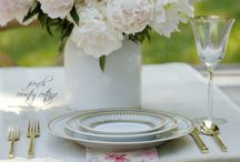 Table settings and Flowers