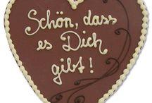 Liebe & Hochzeit   Love & Wedding / Schokoladige Präsente für Liebende, Verliebte, zur Verlobung, Hochzeit etc.