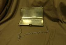 RUSSIAn ANTIQUE SILVER HANDBAG  / RUSSIAn ANTIQUE SILVER HANDBAG   The marker (silversmith) is (П.К.-- 84) Weight: 385 grams / 13.58 ounces
