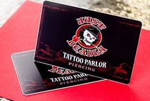 Tattoo / See how we've helped tattoo artists create business cards that represent their talent and creativity. Include a sketch, share a photograph of a recent tattoo or customize your business card with your style.