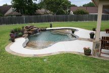 bazen, jezirko, voda na koupani v zahrade