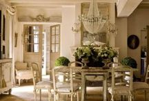 Distressed White French Country