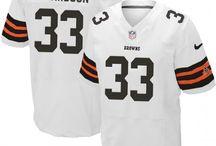 Trent Richardson Nike Elite Jersey – Authentic Browns #33 Black White Jersey