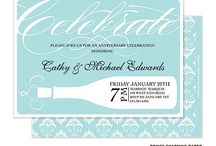 Anniversary Party Invitations / Celebrate years of wedding bliss with anniversary party invitations in sublime designs and gorgeous shades.