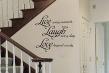 Wall Vinyl ideas for above staircase