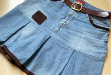 jean to pleated  skirtdress