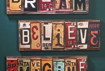 Crafting - License Plates / by Tabitha Price