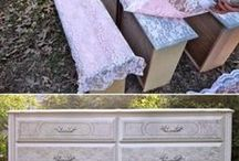 lace furniture painting