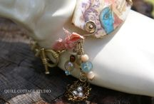 """""""Song of Happiness"""" / Mixed Media Bracelet"""