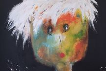 Peintures série PORTRAIT Christine BARRES