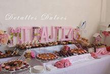 BAUTIZOS / hermosa mesa de postres