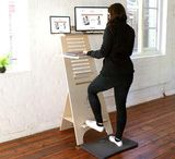 Standing Desk Collection / The DeskStand™ doesn't just get you on your feet, it helps improve your posture, strengthening your back muscles, allowing you to stay focused for longer. In fact, the DeskStand™ is changing the way we choose to work so much that it is now endorsed by Chiropractors and associated with wellness and the leading of a healthy lifestyle. Flat packed for easy assembly and shipping, the adjustable wooden DeskStand™ is as easy on the eye as it is on the pocket. Handcrafted with love in Cape Town.