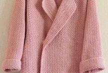 Вязаное пальто, свитера, пончо