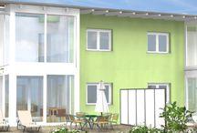 Doppelhäuser / Holzhäuser als Doppelhäuser