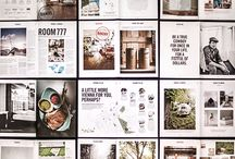 Editorial & Publication / Collection of inspiring layouts and printed objects.