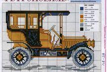Cross stitch vehicles