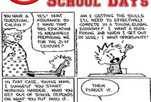 School Cartoons / Funny cartoons related to school and education