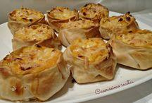 canastitas de choclo calabaza y queso