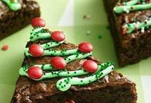 Xmas tree brownies