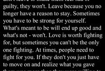 words to hold on to