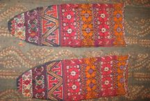 histoires de chaussettes : tradition , folk / tricot knitting folk traditionnel