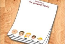 Family favor notepads