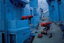 Blue color spot