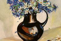 Malarstwo sztalugowe (z cyklu kwiaty) / Malarstwo olejne, akrylowe - obrazy