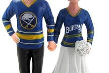 Hockey Wedding Cake Toppers / Custom made hockey wedding cake toppers from The Younique Boutique http://www.TYBinc.com