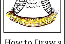 drawing folk art