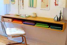 shelves and desks