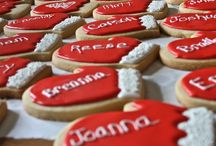 Christmas cookies / Cookies for party favours or take away gifts at events.   Gifts for friends, family, teachers or customers.